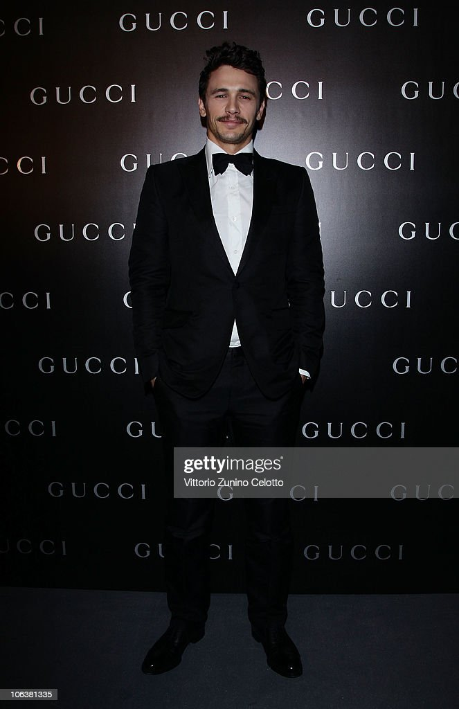 James Franco attends the World Restoration Premiere Of 'La Dolce Vita' Dinner Hosted by Gucci at the Hotel Cavalieri Hilton on October 30 2010 in...