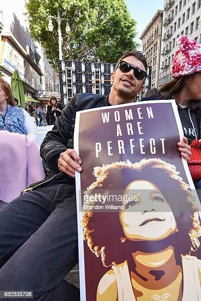 James Franco attends Women's March Los Angeles on January 21 2017 in Los Angeles California