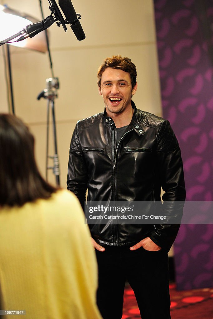 <a gi-track='captionPersonalityLinkClicked' href=/galleries/search?phrase=James+Franco&family=editorial&specificpeople=577480 ng-click='$event.stopPropagation()'>James Franco</a> backstage, behind the scenes at the 'Chime For Change: The Sound Of Change Live' Concert at Twickenham Stadium on June 1, 2013 in London, England. Chime For Change is a global campaign for girls' and women's empowerment founded by Gucci with a founding committee comprised of Gucci Creative Director Frida Giannini, Salma Hayek Pinault and Beyonce Knowles-Carter.