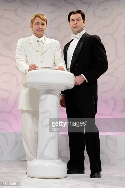LIVE 'James Franco' Episode 1670 Pictured James Franco and Taran Killam as Billy Zane from Titanic during the 'Brain Space' skit on December 6 2014