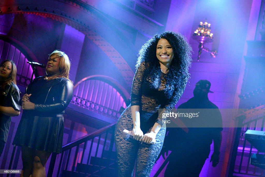 LIVE 'James Franco' Episode 1670 Pictured Musical guest Nicki Minaj performs on December 6 2014