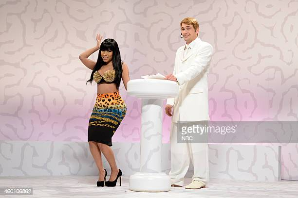LIVE 'James Franco' Episode 1670 Pictured Nicki Minaj and James Franco during the 'Brain Space' skit on December 6 2014