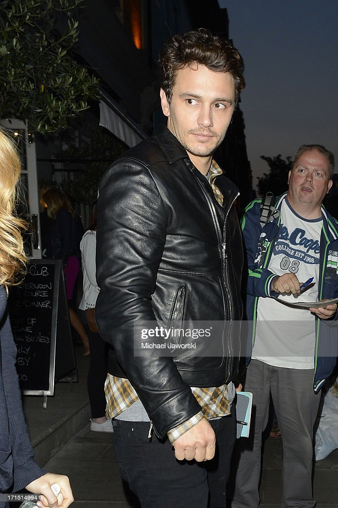 <a gi-track='captionPersonalityLinkClicked' href=/galleries/search?phrase=James+Franco&family=editorial&specificpeople=577480 ng-click='$event.stopPropagation()'>James Franco</a> leaving Charlotte Street Hotel after the screening of 'This Is The End' on June 25, 2013 in London, England.