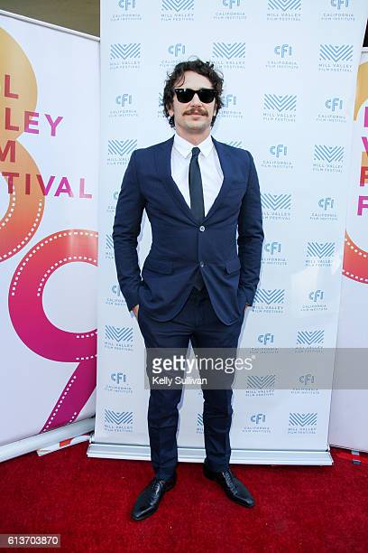 James Franco poses for photos on the Mill Valley Film Festival red carpet at Cinearts @ Sequoia on October 9 2016 in Mill Valley California
