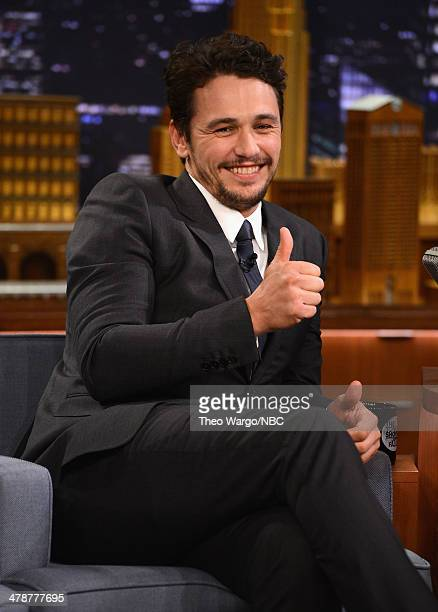 James Franco visits 'The Tonight Show Starring Jimmy Fallon' at Rockefeller Center on March 14 2014 in New York City