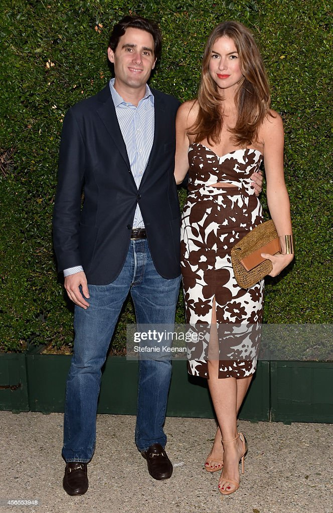 James Frank and Photographer Claiborne Swanson Frank attend Claiborne Swanson Frank's Young Hollywood book launch hosted by Michael Kors at Private...