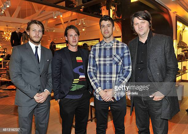 R James Frecheville John Robinson Toby Kebbell and Orian Williams attend Tommy Hilfiger And PS ARTS celebrate the Cameron Silver Vintage Capsule...