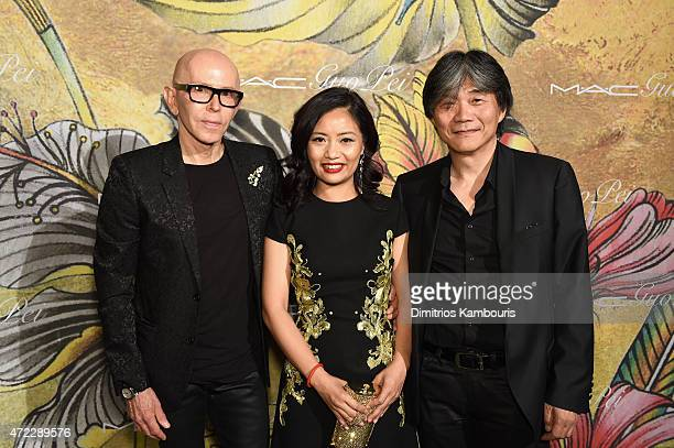 James Gager Guo Pei and Jack Tsao attend the MAC x Guo Pei dinner on May 5 2015 in New York City
