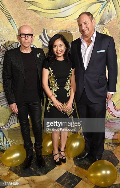 James Gager Guo Pei and John Demsey attend the MAC x Guo Pei dinner on May 5 2015 in New York City
