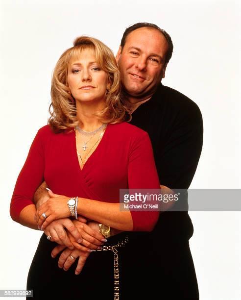 James Gandolfini and Edie Falco