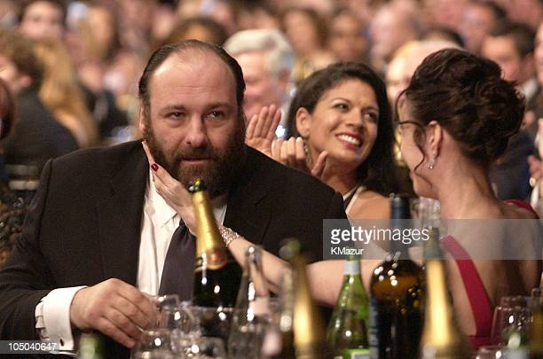 James Gandolfini and guest during Ninth Annual Screen Actors Guild Awards Backstage and Audience at The Shrine Auditorium in Los Angeles California...