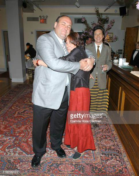 James Gandolfini and Trixie Flynn during The 14th Annual Artists for The African Rainforest at Manhattan Penthouse in New York City New York United...