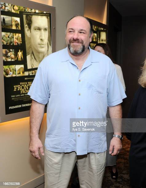 James Gandolfini attends 'Which Way Is The Frontline From Here' New York Premiere at HBO Theater on April 10 2013 in New York City