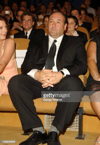 James Gandolfini during 2005 Venice Film Festival 'Romance Cigarettes' Premiere Inside at Palazzo del Cinema in Venice Lido Italy