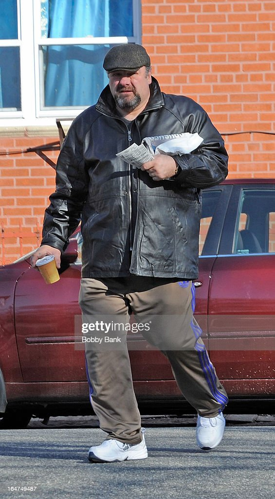 <a gi-track='captionPersonalityLinkClicked' href=/galleries/search?phrase=James+Gandolfini&family=editorial&specificpeople=171463 ng-click='$event.stopPropagation()'>James Gandolfini</a> filming on location for 'Animal Rescue' on March 27, 2013 in the Brooklyn borough of New York City.