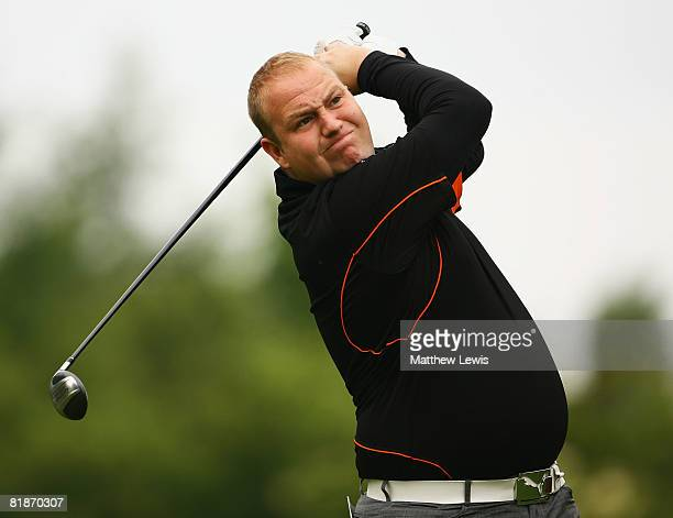James Gardner tees off from the 1st tee during the Powerade PGA Assistant's Championship North Region Qualifier at Knaresborough Golf Club on July 7...
