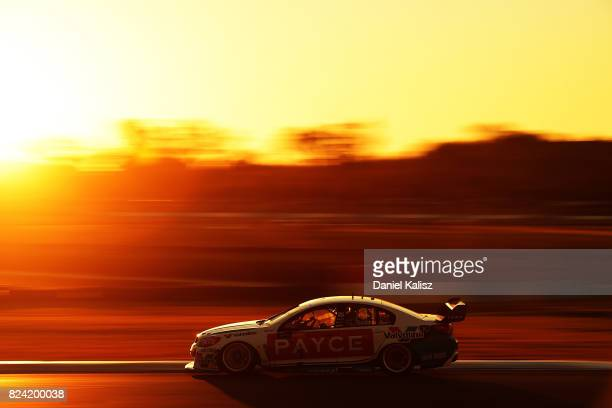 James Golding drives the Wilson Security Racing GRM Holden Commodore VF during race 15 for the Ipswich SuperSprint which is part of the Supercars...