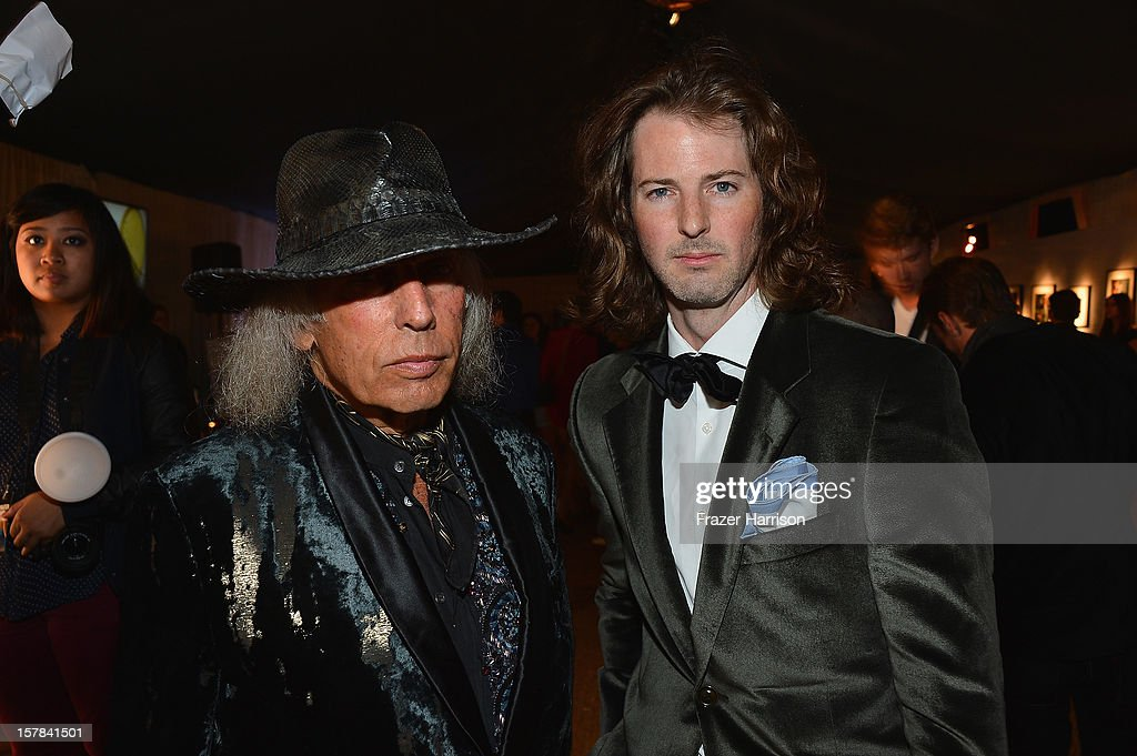 James Goldstein and Marshall Winters attend the amfAR Inspiration Miami Beach Party on December 6, 2012 in Miami Beach, United States.