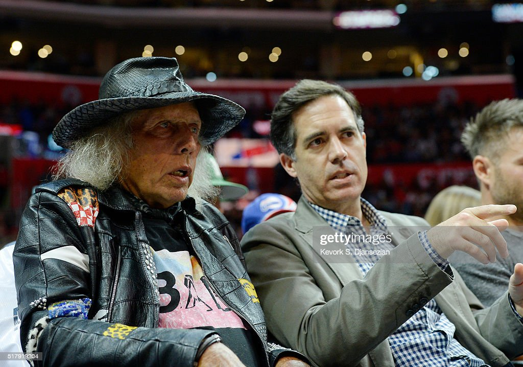 <a gi-track='captionPersonalityLinkClicked' href=/galleries/search?phrase=James+Goldstein&family=editorial&specificpeople=712878 ng-click='$event.stopPropagation()'>James Goldstein</a> (L) and NBA TV host <a gi-track='captionPersonalityLinkClicked' href=/galleries/search?phrase=Matt+Winer&family=editorial&specificpeople=7033466 ng-click='$event.stopPropagation()'>Matt Winer</a> attend Los Angeles Clippers and Portland Trail Blazers basketball game at Staples Center March 24, 2016, in Los Angeles, California. (Photo by