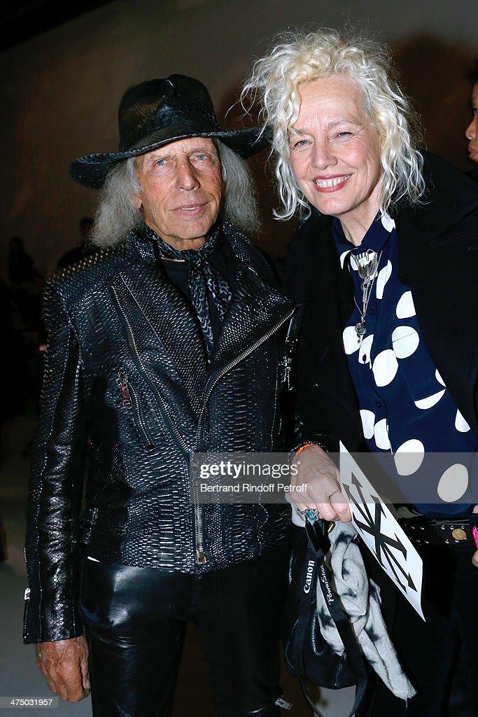 James Goldstein and photographer Ellen von Unwerth attend the Gareth Pugh show as part of the Paris Fashion Week Womenswear Fall/Winter 2014-2015 on February 26, 2014 in Paris, France.