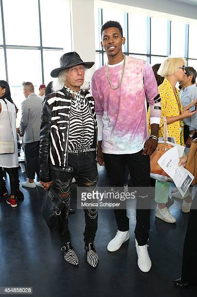 James Goldstein and professional basketball player Nick Young attend the Hood By Air fashion show during MercedesBenz Fashion Week Spring 2015 at...