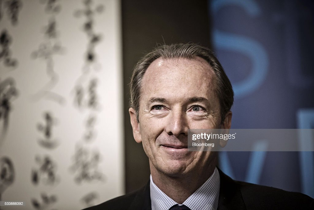 James Gorman, chief executive officer of Morgan Stanley, listens during a Bloomberg Television interview on the sidelines of the Morgan Stanley China Summit in Beijing, China, on Tuesday, May 24, 2016. Gorman sounded a positive note about the Wall Street bank's business, telling investors to 'stay tuned' for better performance as markets recover. Photographer: Qilai Shen/Bloomberg via Getty Images