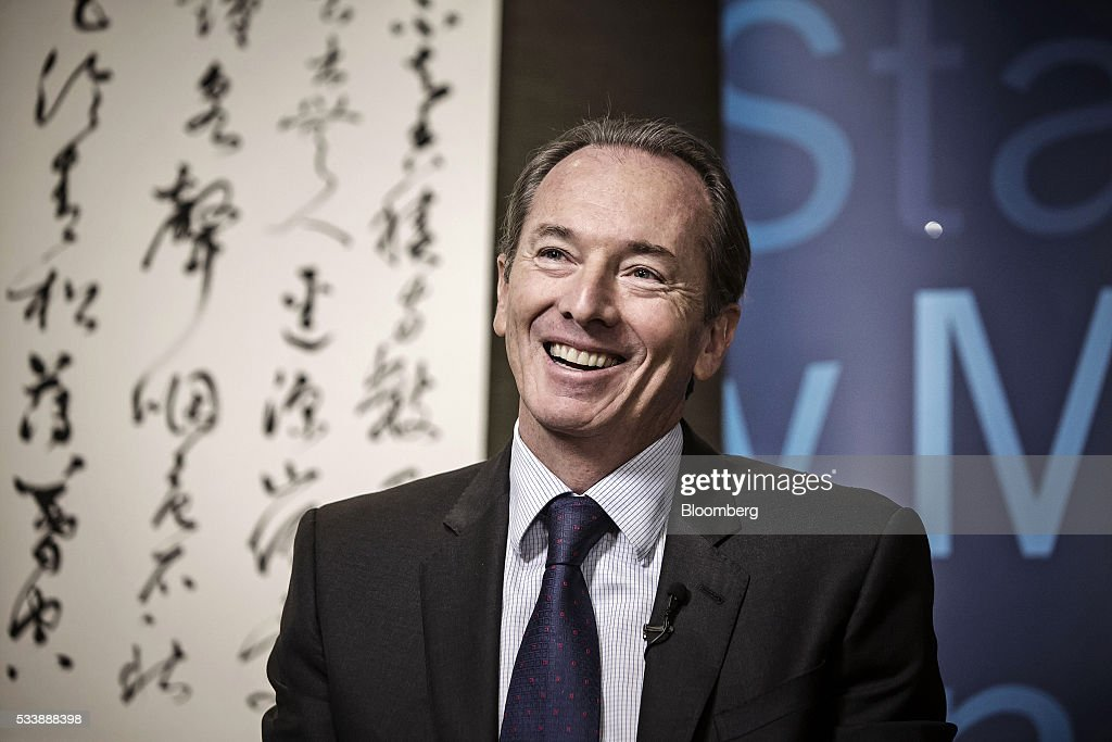 James Gorman, chief executive officer of Morgan Stanley, speaks during a Bloomberg Television interview on the sidelines of the Morgan Stanley China Summit in Beijing, China, on Tuesday, May 24, 2016. Gorman sounded a positive note about the Wall Street bank's business, telling investors to 'stay tuned' for better performance as markets recover. Photographer: Qilai Shen/Bloomberg via Getty Images