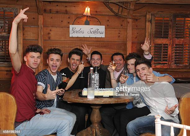 James Graham Casey Johnson Chris Leonard Paul Akister Club owner Diego Tom Mann and Jake Sims attends the 18th birthday party of Tom Mann from...