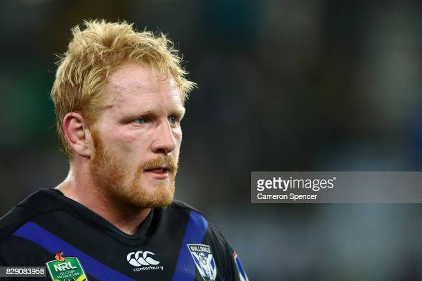 James Graham of the Bulldogs looks dejected after losing the round 23 NRL match between the South Sydney Rabbitohs and the Canterbury Bulldogs at ANZ...