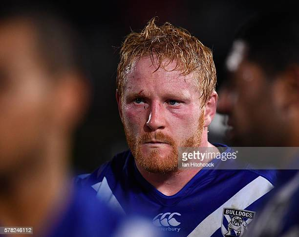 James Graham of the Bulldogs looks dejected after losing the the round 20 NRL match between the North Queensland Cowboys and the Canterbury Bulldogs...