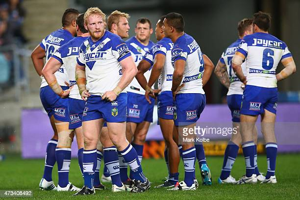 James Graham of the Bulldogs looks dejected during the round 10 NRL match between the Canterbury Bulldogs and the Sydney Roosters at ANZ Stadium on...