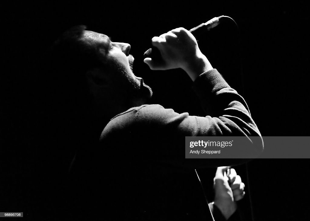 James Graham of The Twilight Sad performs on stage at Hammersmith Apollo on May 6, 2010 in London, England.