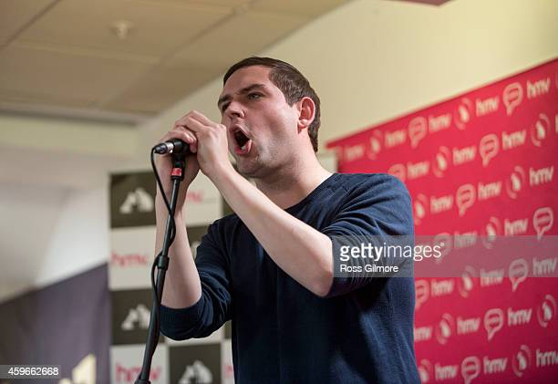 James Graham of The Twilight Sad performs on stage at HMV on November 27 2014 in Glasgow United Kingdom