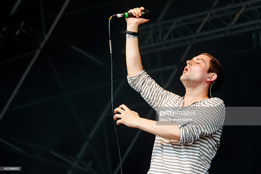 James Graham of The Twilight Sad performs on stage at Truck Festival at Hill Farm on July 19, 2014 in Steventon, United Kingdom.