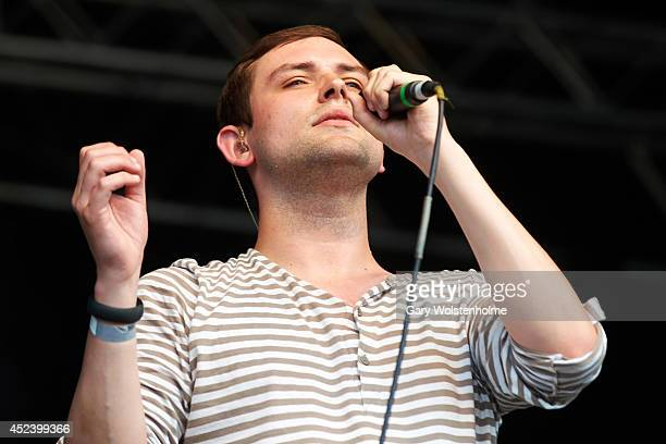 James Graham of The Twilight Sad performs on stage at Truck Festival at Hill Farm on July 19 2014 in Steventon United Kingdom