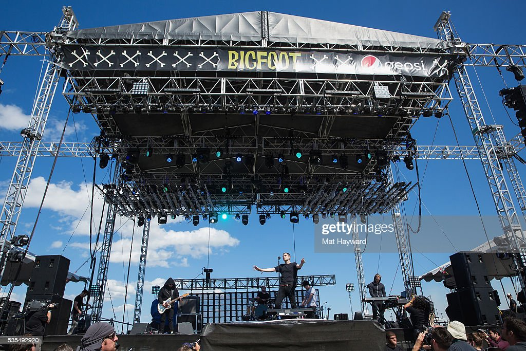 James Graham of The Twilight Sad performs on the Bigfoot stage during the Sasquatch! Music Festival at Gorge Amphitheatre on May 27, 2016 in George, Washington.