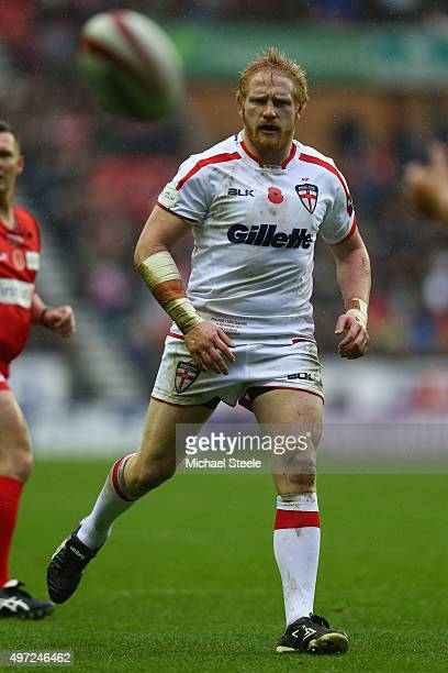 James Graham the prop of England during the third International Rugby League Test Series match between England and New Zealand at DW Stadium on...