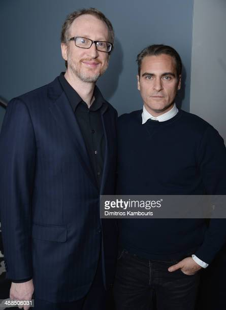 James Gray and Joaquin Phoenix attend the Dior Vanity Fair with The Cinema Society and Moet Chandon after party for The Weinstein Company's 'The...