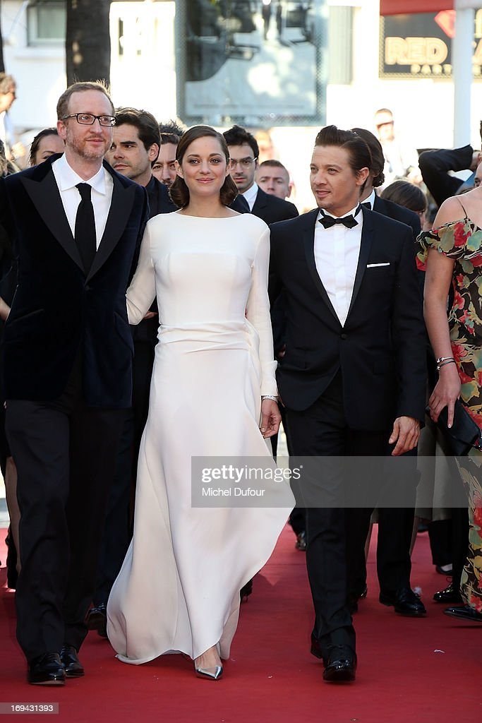 James Gray, Marion Cotillard and Jeremy Renner attend 'The Immigrant' Premiere during the 66th Annual Cannes Film Festival at Palais des Festivals on May 24, 2013 in Cannes, France.