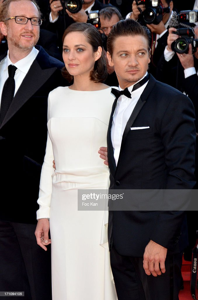 James Gray, Marion Cotillard and Jeremy Renner attend 'The Immigrant' Premiere during the 66th Annual Cannes Film Festival at Grand Theatre Lumiere on May 24, 2013 in Cannes, France.