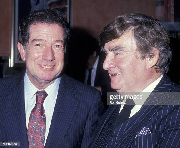 James Greenfield and Pierre Salinger attend Pierre Salinger Party on October 29 1987 at the Reginette in New York City
