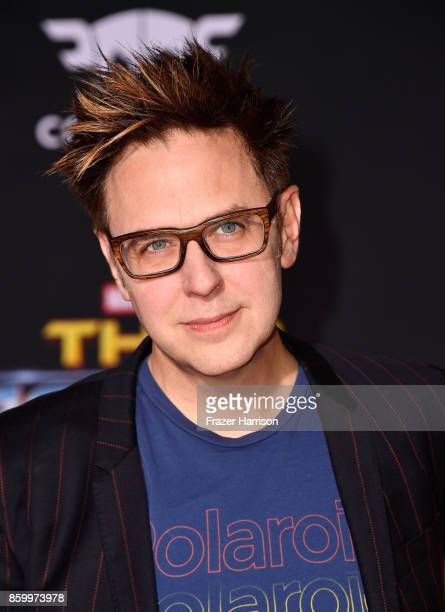 James Gunn attends the premiere of Disney and Marvel's 'Thor Ragnarok' on October 10 2017 in Los Angeles California