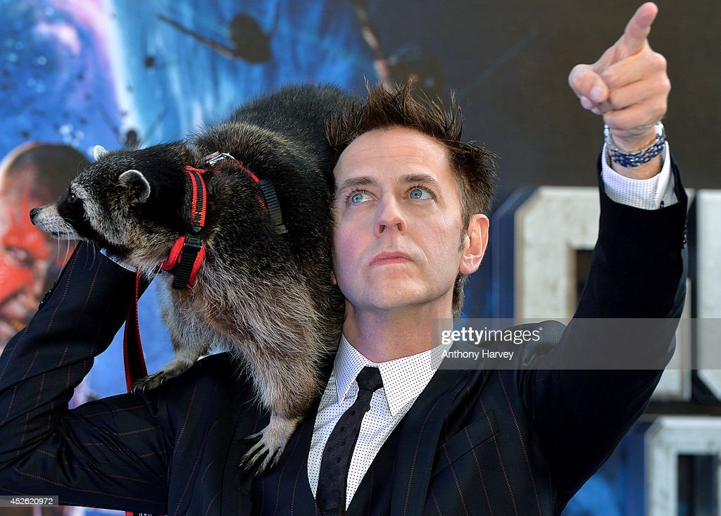 <a gi-track='captionPersonalityLinkClicked' href=/galleries/search?phrase=James+Gunn&family=editorial&specificpeople=669760 ng-click='$event.stopPropagation()'>James Gunn</a> attends the UK Premiere of 'Guardians of the Galaxy' at Empire Leicester Square on July 24, 2014 in London, England.