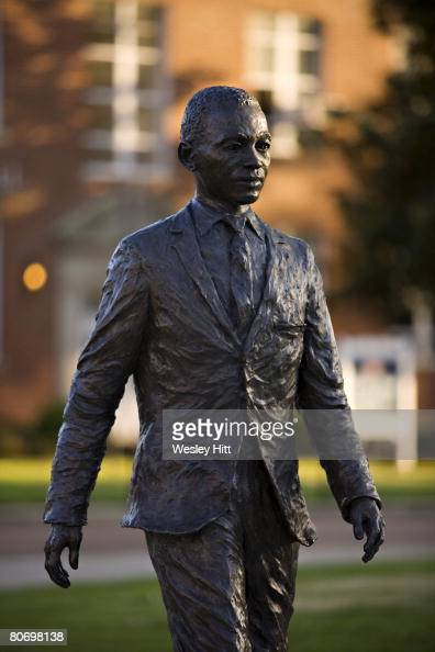 James H Meredith statue on the campus of the University of Mississippi on April 12 2008 in Oxford Mississippi