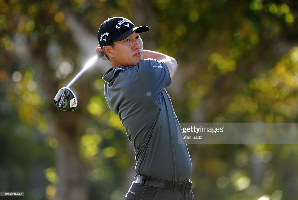 James Hahn hits a drive on the first hole during the second round of the Sony Open in Hawaii at Waialae Country Club on January 11, 2013 in Honolulu, Hawaii.