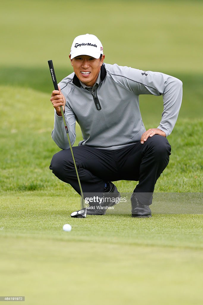 <a gi-track='captionPersonalityLinkClicked' href=/galleries/search?phrase=James+Hahn+-+Golfer&family=editorial&specificpeople=15809875 ng-click='$event.stopPropagation()'>James Hahn</a> lines up a putt on the fourth hole during the Final Round of the Northern Trust Open at the Riviera Country Club on February 22, 2015 in Pacific Palisades, California.