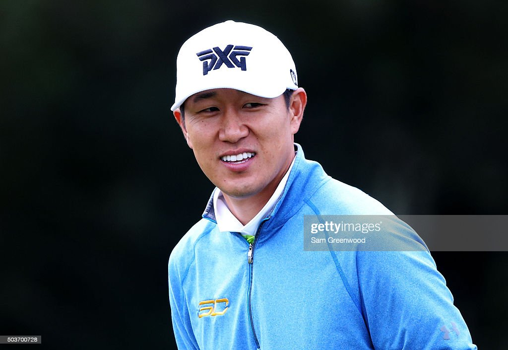 <a gi-track='captionPersonalityLinkClicked' href=/galleries/search?phrase=James+Hahn+-+Golfer&family=editorial&specificpeople=15809875 ng-click='$event.stopPropagation()'>James Hahn</a> looks on during the Hyundai Tournament of Champions Pro-Am at the Plantation Course at Kapalua Golf Club on January 6, 2016 in Lahaina, Hawaii.