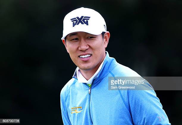 James Hahn looks on during the Hyundai Tournament of Champions ProAm at the Plantation Course at Kapalua Golf Club on January 6 2016 in Lahaina Hawaii