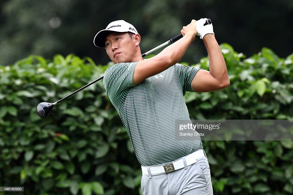 James Hahn of the United States plays a tee shot on the 2nd hole during round four of the CIMB Classic at Kuala Lumpur Golf & Country Club on November 1, 2015 in Kuala Lumpur, Malaysia.