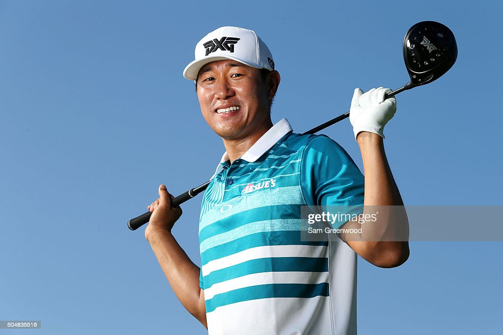 <a gi-track='captionPersonalityLinkClicked' href=/galleries/search?phrase=James+Hahn+-+Golfer&family=editorial&specificpeople=15809875 ng-click='$event.stopPropagation()'>James Hahn</a> poses during the Sony Open In Hawaii Pro-Am tournament at Waialae Country Club on January 13, 2016 in Honolulu, Hawaii.